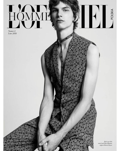 Erik van Gils - Ph: Edwin S Freyer for L'Officiel Hommes Poland Summer 2018