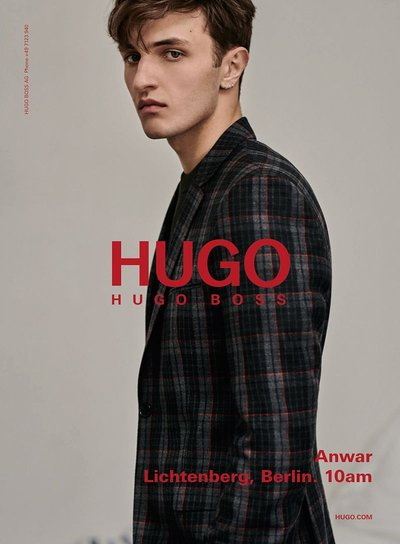 Anwar Hadid - Ph: Collier Schorr for HUGO F/W 18