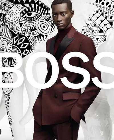 Oumar Diouf - Ph: Craig McDean for Hugo Boss Winter 2019