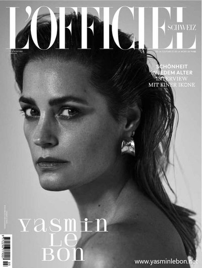 Yasmin Le Bon - Ph: Simon Emmett for L'Officiel Switzerland March 2019