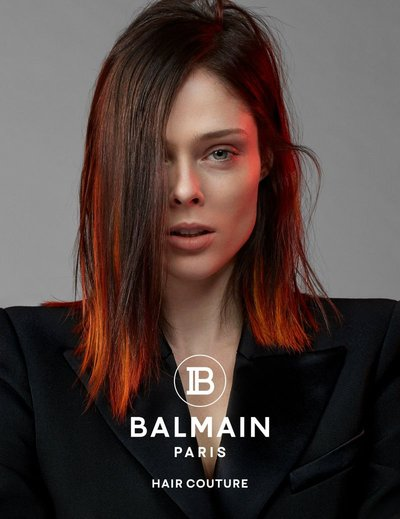 Coco Rocha - Ph. Jean Baptiste Mondino for Balmain Hair Couture S/S 19