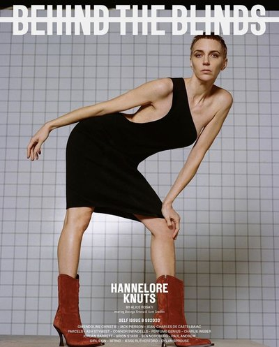 Hannelore Knuts - Ph: Alice Rosati for Behind the Blinds Spring 2020