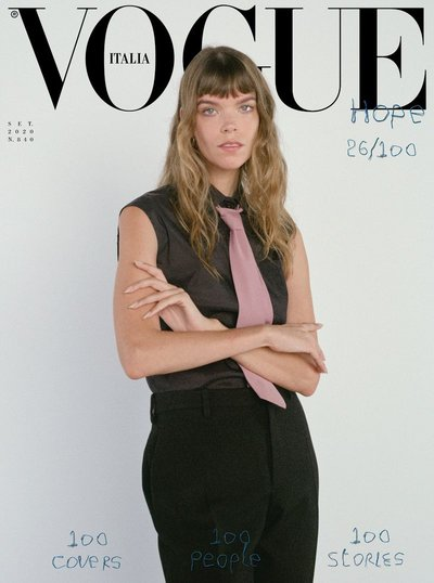 Meghan Collison - Ph: Mark Borthwick for Vogue Italia September 2020 Cover