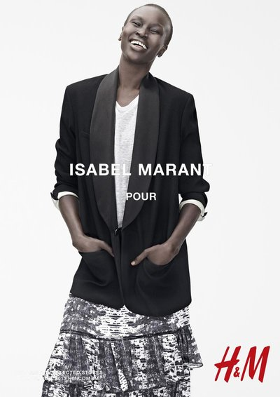 Alek Wek - Ph. Karim Sadli for H&M