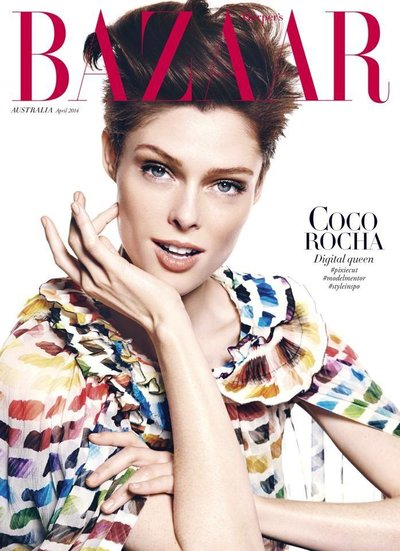 Coco Rocha - Ph. Todd Barry for Bazaar Australia