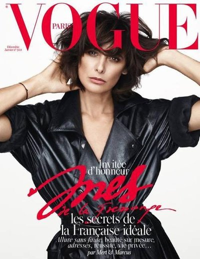 Ines de la Fressange - Ph: Mert Alas and Marcus Piggot for Vogue Paris Dec 2014/January 2015