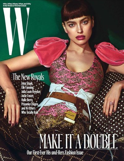 Irina Shayk - Ph: Mario Sorrenti for W October 2016 Cover
