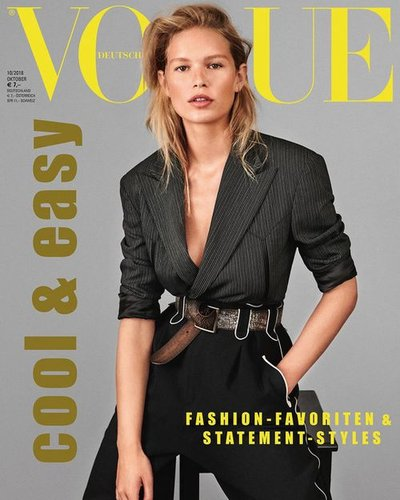Anna Ewers - Ph.Giampaolo Sgura for Vogue Germany October 2018