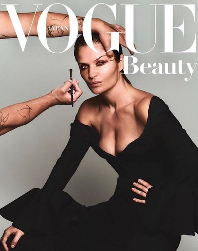 Helena Christensen - Ph: Chris Colls for Vogue Japan August 2019