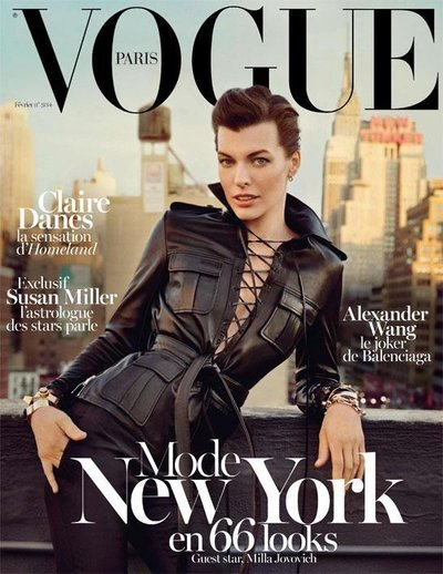 Milla Jovovich - Vogue Paris February 2013 Cover by Inez van Lamsweerde and Vinoodh Matadin
