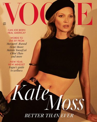 Kate Moss - Ph: Mert Alas and Marcus Piggot for British Vogue January 2021
