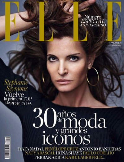 Stephanie Seymour - Ph. Gilles Bensimon for Elle Spain Oct 2016