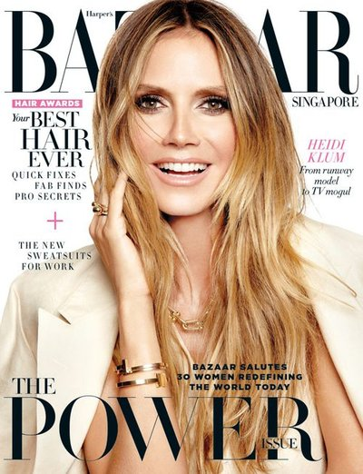 Heidi Klum - ph: Yu Tsai for Harper's Bazaar Singapore 2017