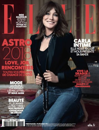 Carla Bruni - Ph: Jan Welters for Elle France December 2017