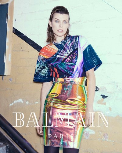 Milla Jovovich - Ph: An Le for Balmain F/W 18
