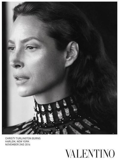 Christy Turlington - Ph: David Sims for Valentino S/S 17