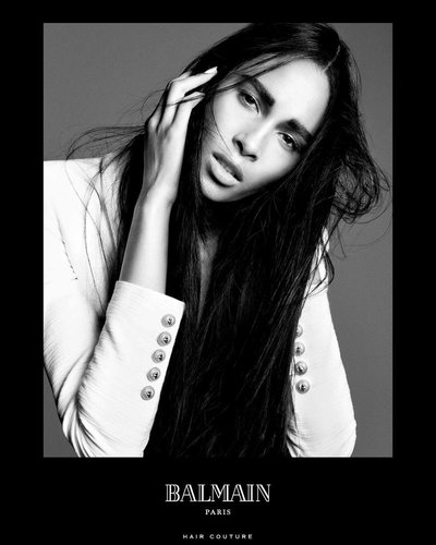 Cindy Bruna - Ph: Terry Tsiolis for Balmain Hair Spring 2016