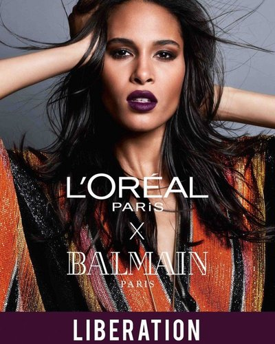Cindy Bruna - Ph: Nico Bustos for Loreal x Balmain Fall 2017