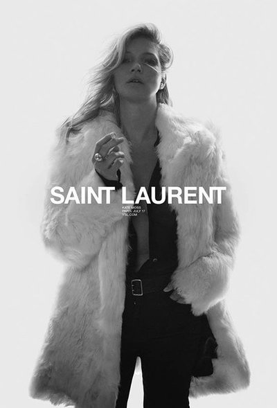 Kate Moss - Ph. David Sims for Saint Laurent S/S 18