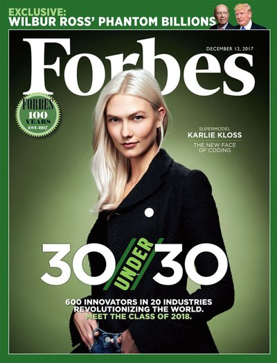 Karlie Kloss - Ph. Jamie Toppin for Forbes December 2017