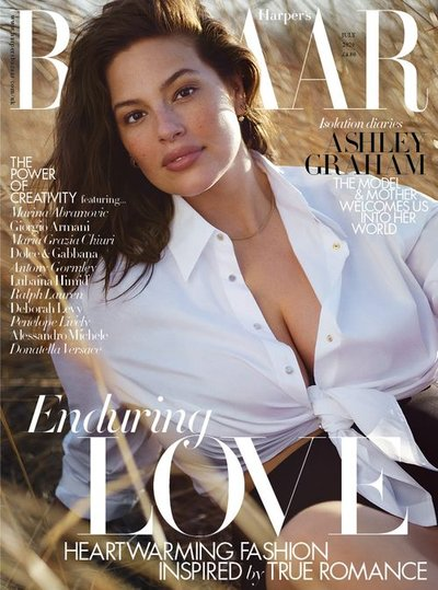Ashley Graham - Ph: Justin Ervin for Harper's Bazaar UK July 2020 Cover