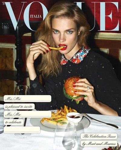 Natalia Vodianova - Ph. Mert & Marcus for Vogue Italia December 2017