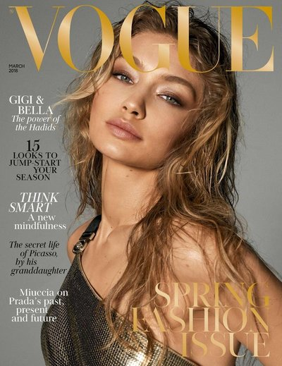 Gigi Hadid - Ph: Steven Meisel for British Vogue March 2018 Cover