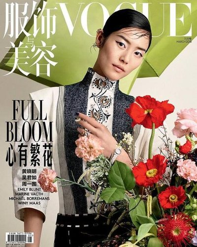 Liu Wen - Ph: Ben Toms for Vogue China March 2018