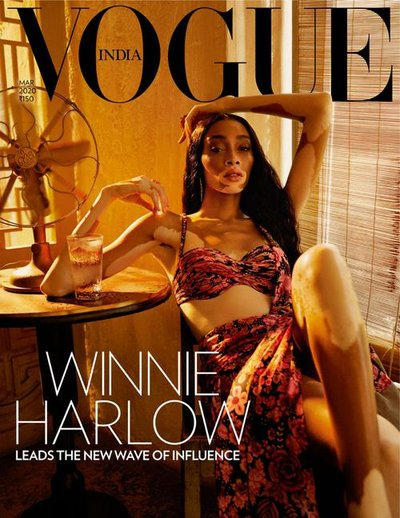 Winnie Harlow - Ph: Billy Kidd for Vogue India March 2020