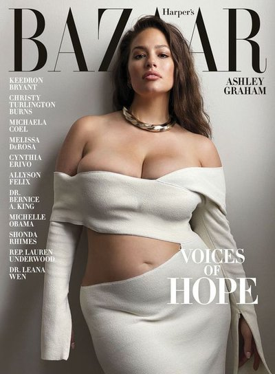 Ashley Graham - Ph: Mario Sorrenti for Harper's Bazaar US Summer 2020