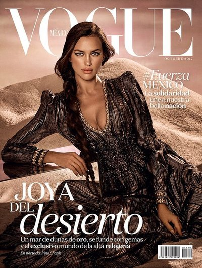 Irina Shayk - Ph: Jason Kibbler for Vogue Mexico Oct 2017