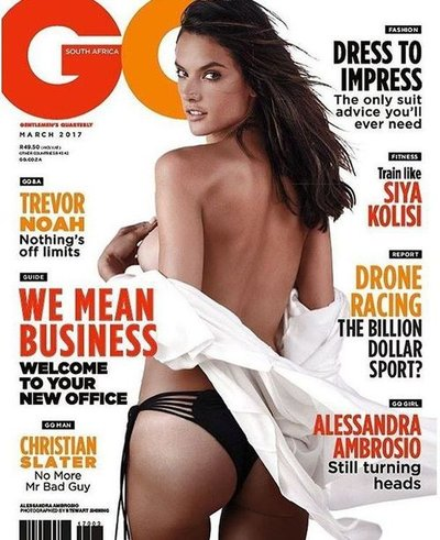 Alessandra Ambrosio - Ph: Stewart Shining for GQ South Africa March 2017