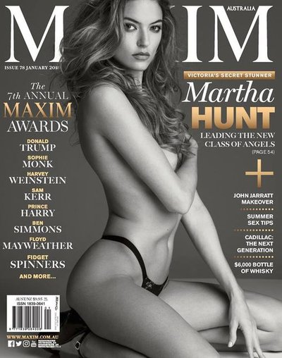 Martha Hunt - Ph. Gilles Bensimon for Maxim Australia January 2018