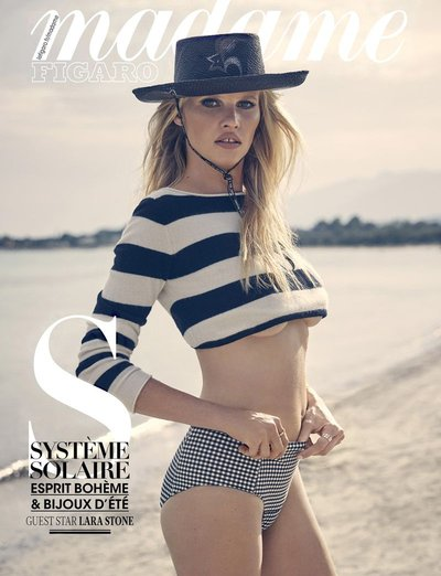 Lara Stone - Photo: Fred Meylan for Madame Figaro August 2018
