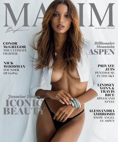 Jasmine Tookes - Ph: Gilles Bensimon for Maxim Feb 2017