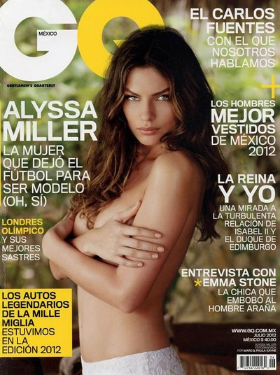 Alyssa Miller - Ph: Mark Kayne for GQ Mexico July 2012 Cover