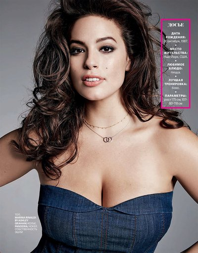 Ashley Graham - Ph: Thomas Nutzl for Cosmo Russia Feb 2018