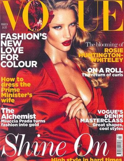 Rosie Huntington Whiteley - Photo: British Vogue March 2011