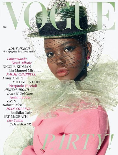 Adut Akech - Ph: Steven Meisel for British Vogue December 2018