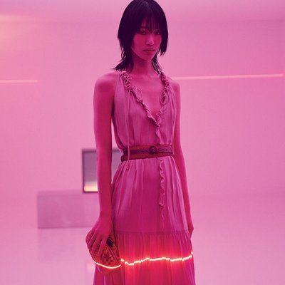 Sora Choi - Ph: Fabien Baron for Bottega Veneta Pre Fall 2018