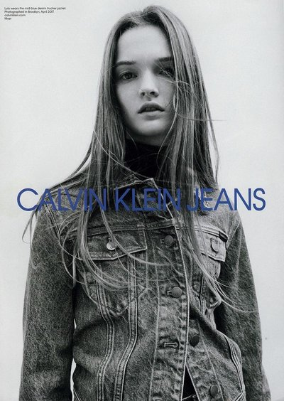 Lulu Tenney - Ph: Willy Vanderperre for Calvin Klein Jeans F/W 17