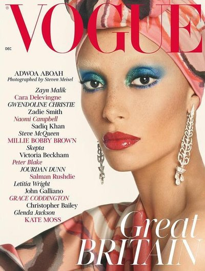 Adwoa Aboah - Ph: Steven Meisel for British Vogue December 2017