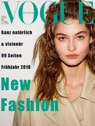 Grace Elizabeth - Ph: Daniel Jackson for Vogue Germany February 2018