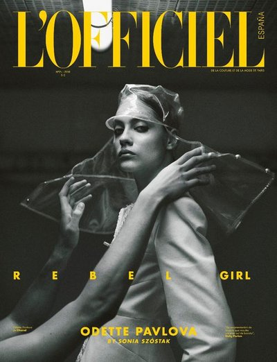 Odette Pavlova - Ph: Sonia Szostak for L'Officiel Spain March 2018