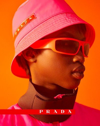 Anok Yai - Ph: Arisu Kashiwagi for Prada Linea Rossa F/W 18