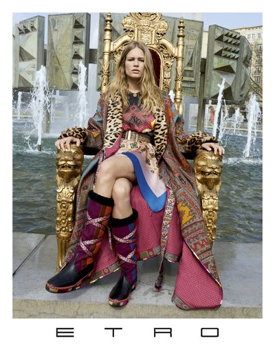 Anna Ewers - Ph. Juergen Teller for Etro F/W 17