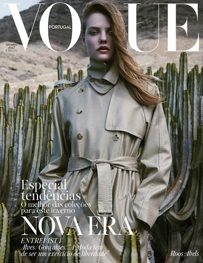 Roos Abels - Ph: Lukasz Pukowiec for Vogue Portugal Sept 2017