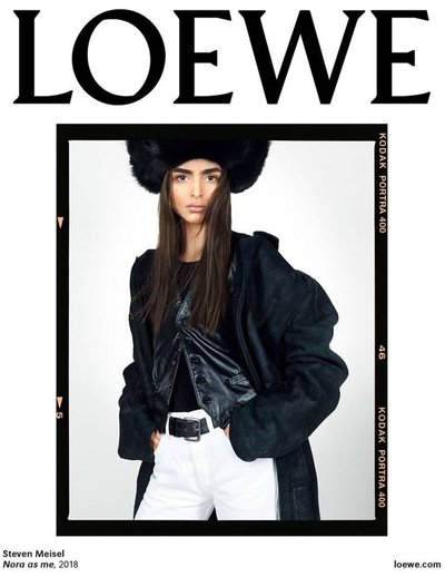 Nora Attal - Ph: Steven Meisel for Loewe S/S 19